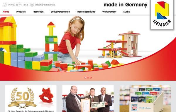 Vorschau von www.nemmer.de, Nemmer Holzspielwaren GmbH
