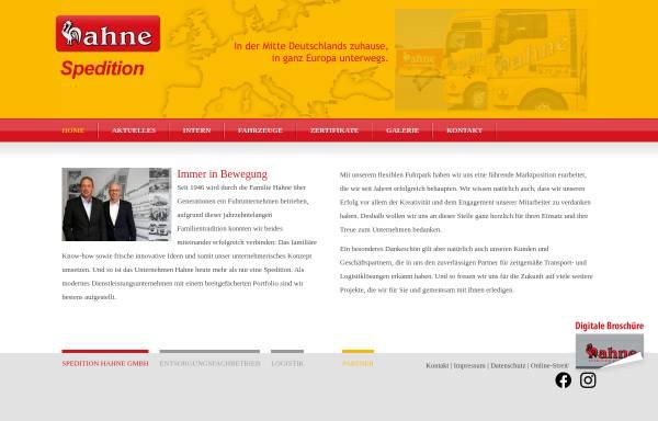 Vorschau von www.hahne-spedition.de, Hahne OHG
