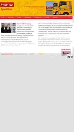 Vorschau der mobilen Webseite www.hahne-spedition.de, Hahne OHG