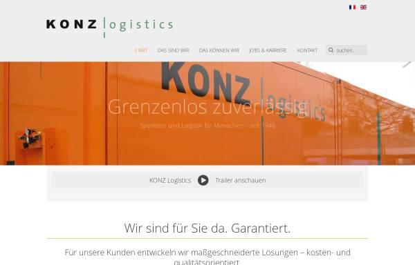 Vorschau von www.konz-logistics.com, Josef Konz GmbH & Co. KG