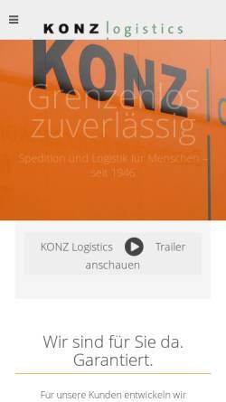 Vorschau der mobilen Webseite www.konz-logistics.com, Josef Konz GmbH & Co. KG