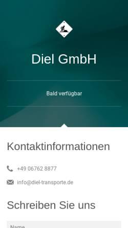 Vorschau der mobilen Webseite www.diel-transporte.de, Diel GmbH