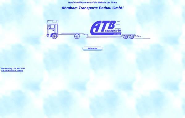 Vorschau von www.abraham-transporte.de, Abraham-Transporte Bethau GmbH