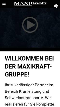 Vorschau der mobilen Webseite www.maximum-krane.de, Maximum GmbH