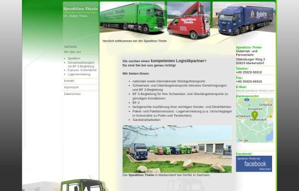 Vorschau von www.spedition-thiele.com, Spedition Thiele