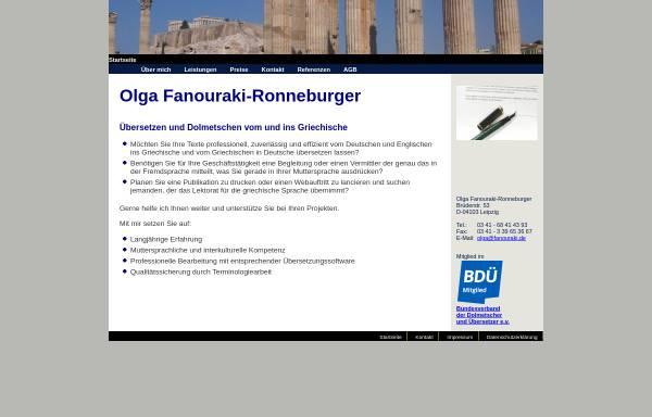 Vorschau von www.fanouraki.de, Olga Fanouraki-Ronneburger