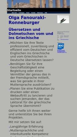 Vorschau der mobilen Webseite www.fanouraki.de, Olga Fanouraki-Ronneburger
