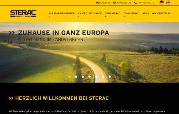 Vorschau von www.sterac.com, Sterac Transport GmbH