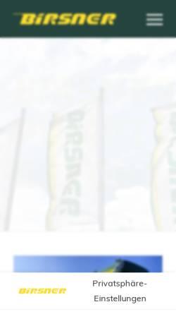 Vorschau der mobilen Webseite birsner-singen.de, Adolf Birsner GmbH & Co. KG