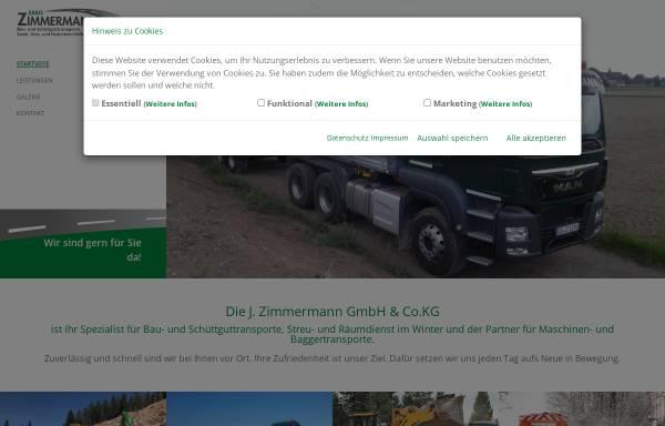 Vorschau von www.j-zimmermann-transporte.de, J. Zimmermann GmbH & Co. KG