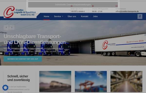 Vorschau von www.cvetko-transporte.de, Cvetko Werner Transport & Logistik