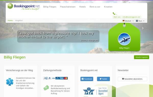 Vorschau von www.bookingpoint.net, Bookingpoint.net