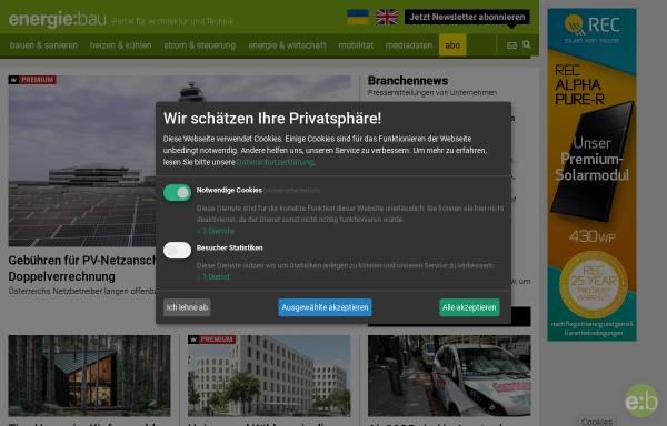 Vorschau von www.energie-bau.at, Energie-Bau.at