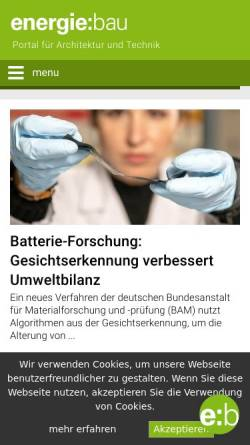 Vorschau der mobilen Webseite www.energie-bau.at, Energie-Bau.at
