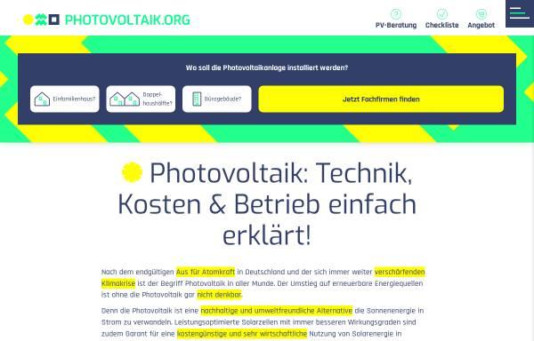 Vorschau von www.photovoltaik-guide.de, photovoltaik-guide.de