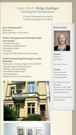 Vorschau der mobilen Webseite www.helga-rudinger.de, Dipl.-Psych. Helga Rudinger