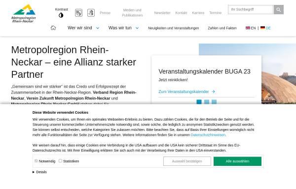 Vorschau von www.m-r-n.com, Metropolregion Rhein-Neckar