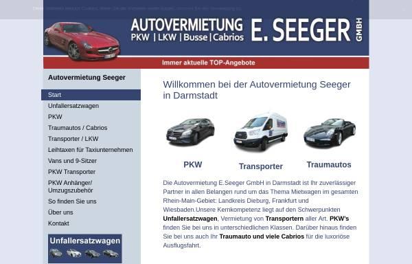 Vorschau von www.autovermietung-seeger.de, Autovermietung E. Seeger GmbH