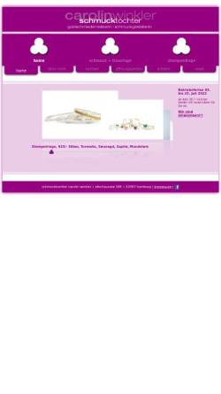Vorschau der mobilen Webseite www.schmucktochter.de, Carolin Winkler