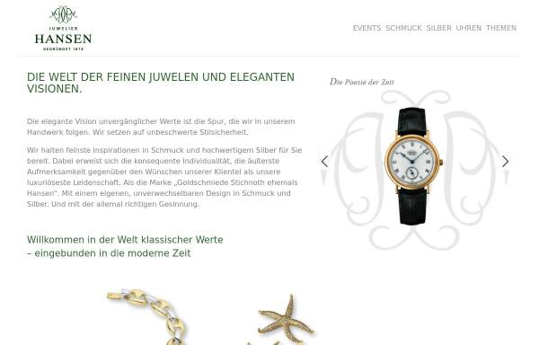 Vorschau von hansen-juwelier.de, Juwelier Hansen