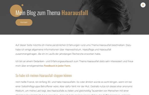 Vorschau von www.haarausfall-gestoppt.de, Mein Haarausfall Blog