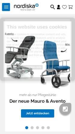 Vorschau der mobilen Webseite www.nordiska.de, Nordiska