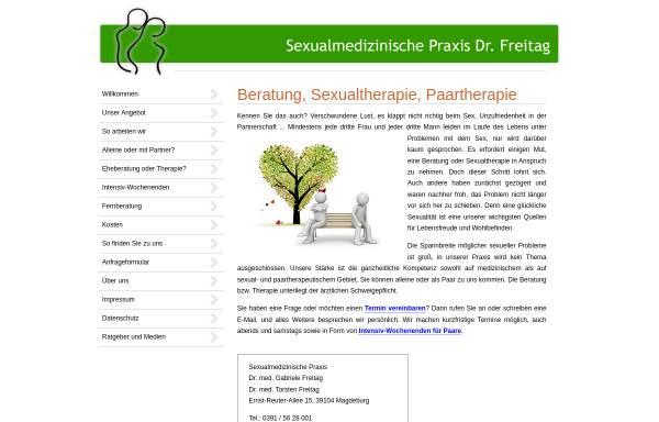 Vorschau von dr-freitag-sexualmedizin.de, Sexualmedizinische Praxis Dr. Freitag