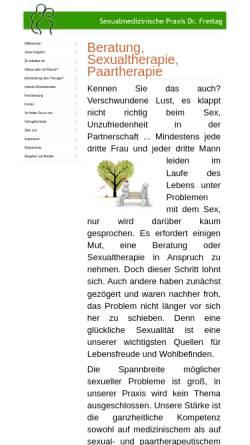 Vorschau der mobilen Webseite dr-freitag-sexualmedizin.de, Sexualmedizinische Praxis Dr. Freitag