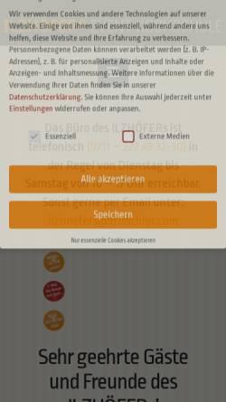 Vorschau der mobilen Webseite www.ilzhoefers.de, Event-Kochschule Ilzhöfers