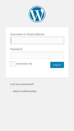 Vorschau der mobilen Webseite www.editranslate.com, editranslate