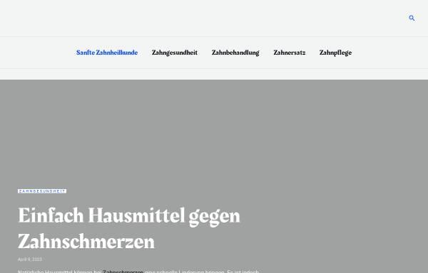 Vorschau von www.sanfte-zahnheilkunde.de, Die Praxis für Zahnheilkunde