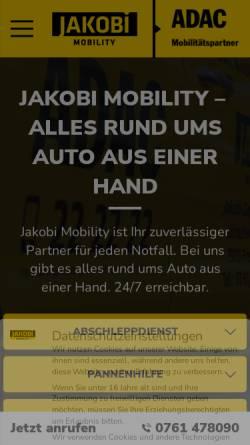 Vorschau der mobilen Webseite www.jakobi-mobility.de, Jakobi Autovermietung GmbH