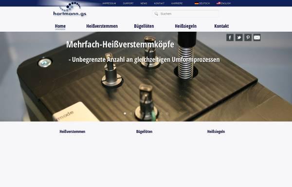 Vorschau von www.hartmann.gs, Hartmann Feinwerkbau GmbH