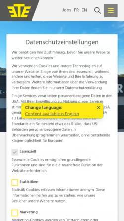 Vorschau der mobilen Webseite www.ete.ch, Emil Egger AG