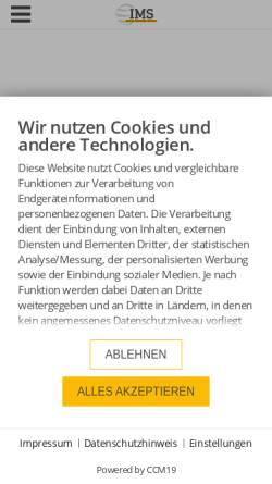 Vorschau der mobilen Webseite www.ims.de, IMS Internet Marketing Services GbR