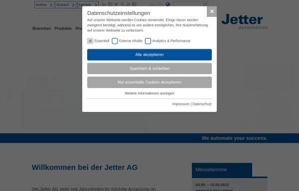 Vorschau von www.jetter.de, Jetter AG