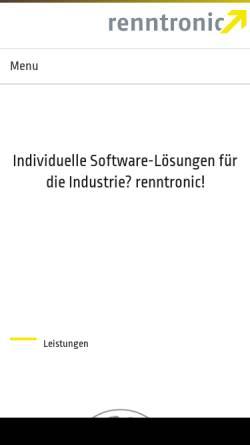 Vorschau der mobilen Webseite www.renntronic.de, Renntronic, Inh. Carsten Renn