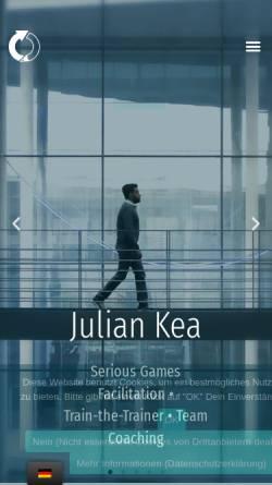 Vorschau der mobilen Webseite www.kilearning.net, Julian Kea