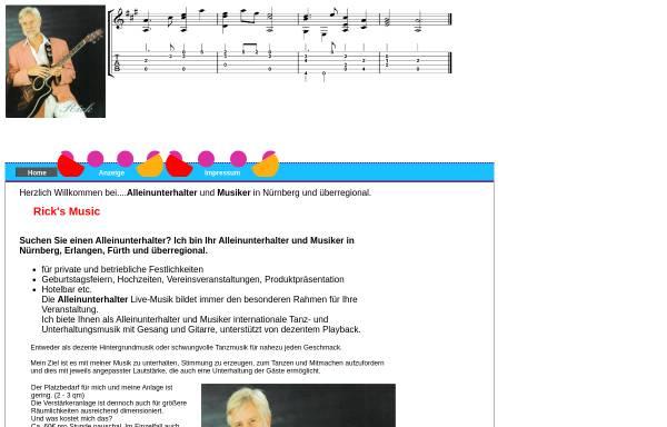 Vorschau von www.ricks-music.de, Rick's Musik