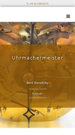 Vorschau der mobilen Webseite www.grossuhrwerkstatt.de, Bent Borwitzky