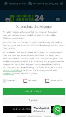 Vorschau der mobilen Webseite www.gebaeudereinigungberlin.net, Gebäudereinigung Berlin