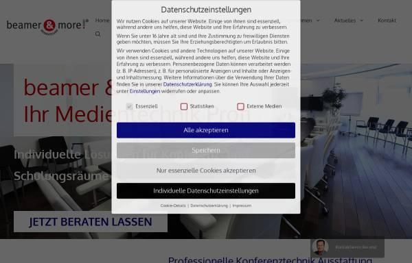 Vorschau von www.beamerandmore.de, beamer & more GmbH