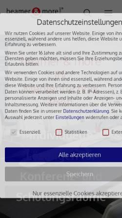Vorschau der mobilen Webseite www.beamerandmore.de, beamer & more GmbH