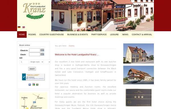 Vorschau von www.hotel-landgasthof-kranz.de, Hotel Landgasthof Kranz