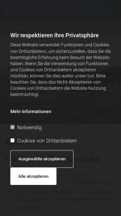 Vorschau der mobilen Webseite www.kroll-lueneburg.de, Kroll GmbH Tief- und Straßenbau