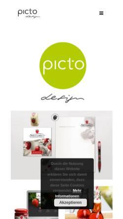 Vorschau der mobilen Webseite www.pict-o.de, Designbuero picto - Ilka Riedler-Zimmermann