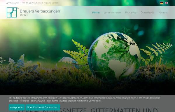 Vorschau von www.breuers-verpackungen.de, Breuers Verpackungen GmbH