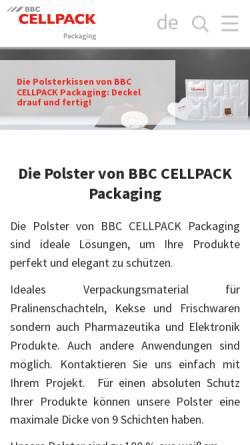 Vorschau der mobilen Webseite www.abs-packmittel.de, ABS Packmittel GmbH