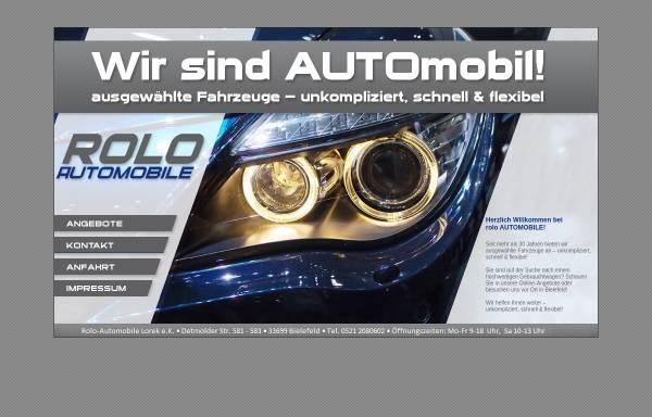 Vorschau von www.rolo-automobile.de, Automobil-Pfandhaus Lorek, Welland, Rolletschke GbR