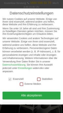 Vorschau der mobilen Webseite www.das-autopfand.de, Dap - das Autopfand, Inhaber Martin Ostgathe